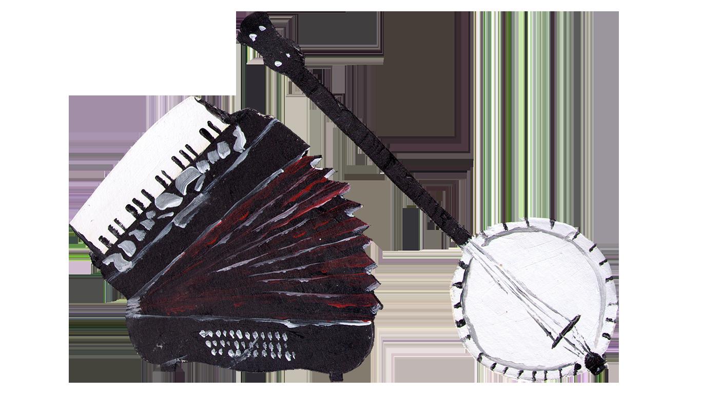 Banjo und Akkordeon